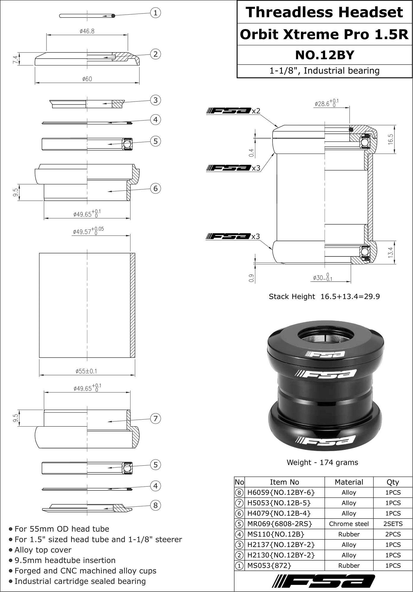 Universal Cycles -- FSA Orbit Xtreme Pro Headset 2017 [101 ...