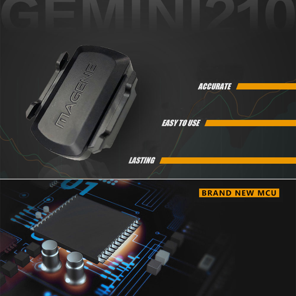 Magene Gemini 210 Ant+ & Bluetooth Speed & Cadence Sensor Compatible  Garmin, Bryton, Igpsport Zwift, Onelap